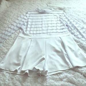 Dresses & Skirts - See-thru White Romper